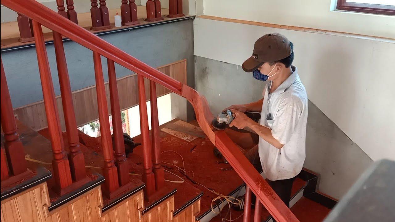 sửa chữa cầu thang gỗ theo quy trình tỉ mỉ | noithatgovn.com