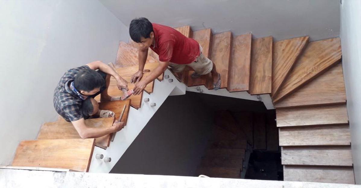 sơn sửa cầu thang gỗ | noithatgovn.com