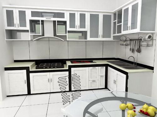tủ bếp nhôm cần sửa chữa gọi noithatgovn.com