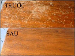 trước sau khi sử dụng dịch vụ sửa sàn gỗ tại mộc phú quảng