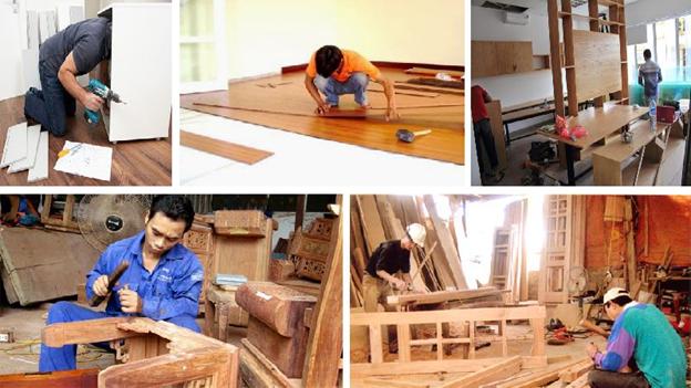 sửa chữa sàn gỗ chuyên nghiệp cở sở mộc phú quảng