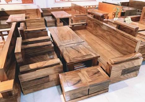 bộ bàn ghế gỗ hương xám