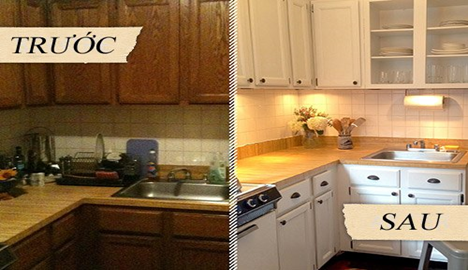 A kitchen with a sink and a microwaveDescription automatically generated