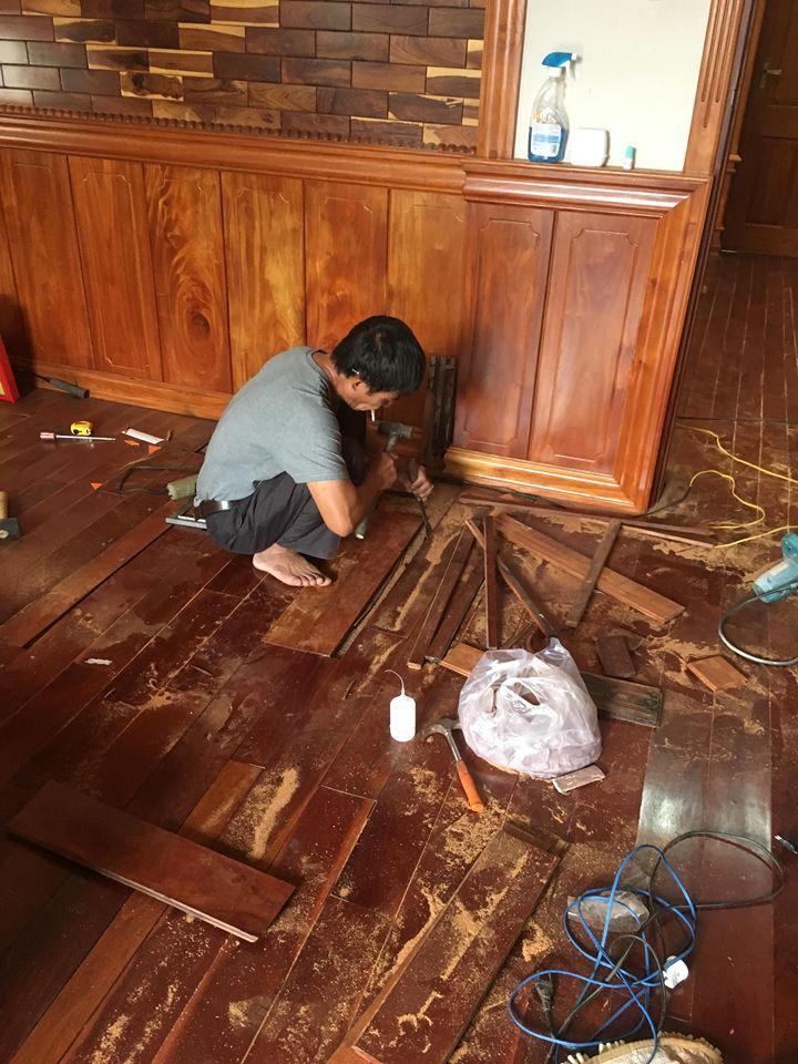 sửa sàn gỗ